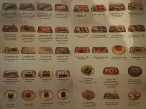 sitges sushi menu
